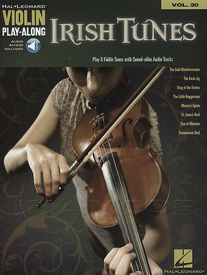 Irish Tunes Violin Play-Along Vol 20 Sheet Music Book with Audio Access 8 Celtic