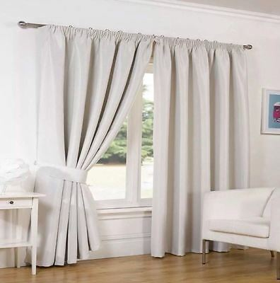 Dreamscene Supersoft Thermal FAUX SILK Blackout Curtains-Winter Warm/Summer Cool