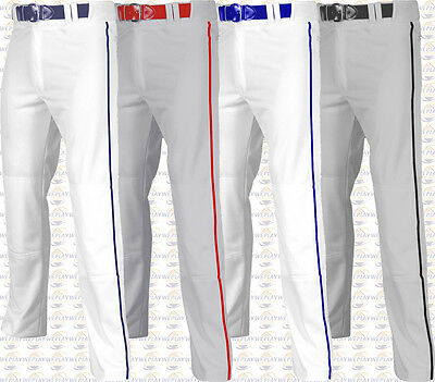 Champro Adult Mens Open Bottom Adjustable Baseball Pants W/ Piping Braid BP61UA