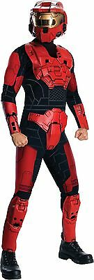 Halloween LifeSize Superhero Robot HALO RED SPARTAN COSTUME MEN ADULT Standard