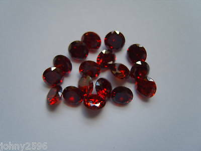 5mm round red cubic zirconia 2 stones  for £1.00.