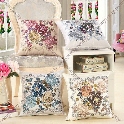vintage flower comfy cushion pillow cover case sofa bed cafe home decor gift i