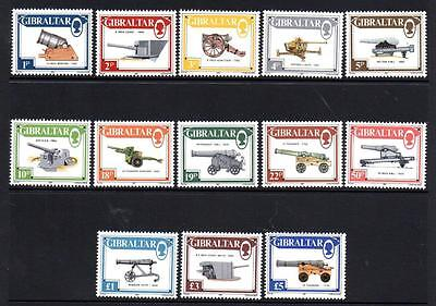 Gibraltar Mnh 1987 Definitive – Canons Set Of 13