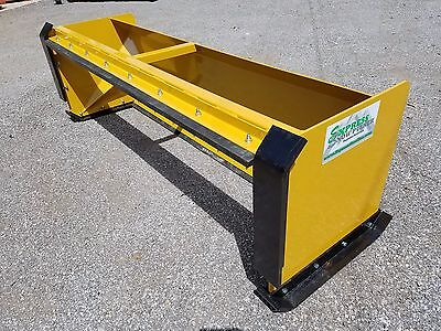 10' pullback snow pusher with front shoes FREE SHIPPING skid steer bobcat