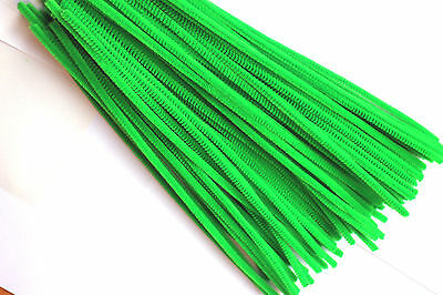 New Pipe Cleaners Green Chenille Craft 30cm x 6mm Pack Of 50