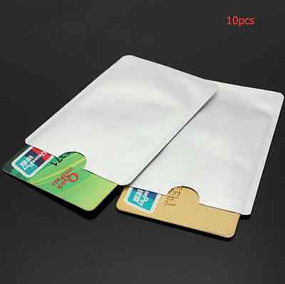 10 x RFID Blocking Credit Card Secure Sleeve Protector Holder Shield Anti Theft