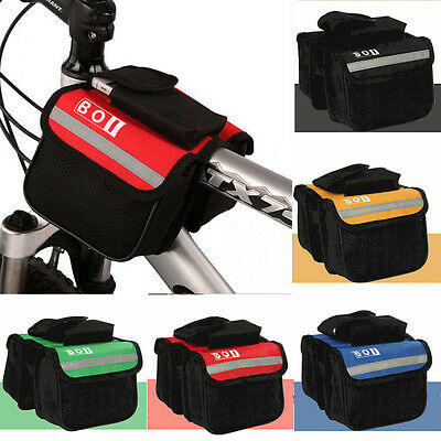 Cycling Bike Bicycle Front Frame Tube Handlebar Holder Pannier Pouch Storage Bag