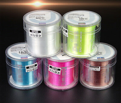 Durable NEW 500M Fishing Line Strong Nylon Wires 5Colors Mainline High Quality