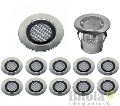 BRILLIANT COSA 30 10x STAINLESS STEEL LED DECK LIGHTS 10 PACK DIY ROUND WHITE