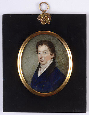"""Portrait of a gentleman"", English miniature, early 19th century"
