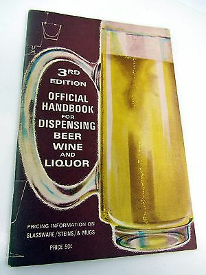 Official Handbook for Dispensing Beer Wine & Liquor 3rd Ed - 1965 + Price List