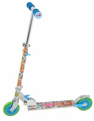 Childrens Moshi Monsters Folding Scooter With Rear Wheel Lights For Ages 5+ New