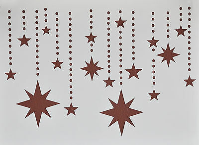 Stars on Chains Stencil Template Scrapbooking Art Card Making