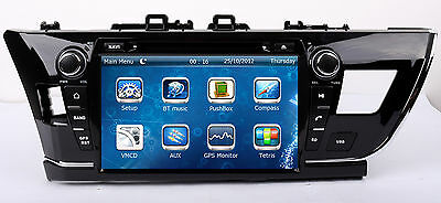 """9"""" Touch Screen Stereo Car Radio DVD Player GPS Navigation For Toyota Corolla US"""