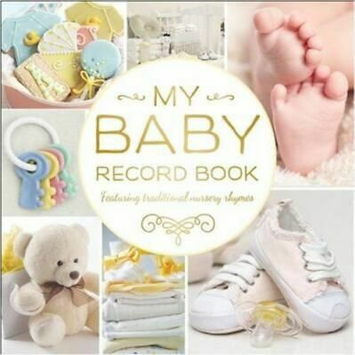 NEW My Baby Record Book (Yellow) Diary, Journal or Blank Book Free Shipping