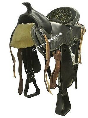 Western Saddle - Genuine Leather