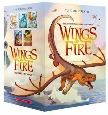 NEW Wings of Fire Boxset, Books 1-5 (Wings of Fire) By Tui T. Sutherland