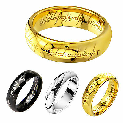 Lord of the Rings Stainless Steel Batman Ring Band Wedding  jewerlly size 6-13