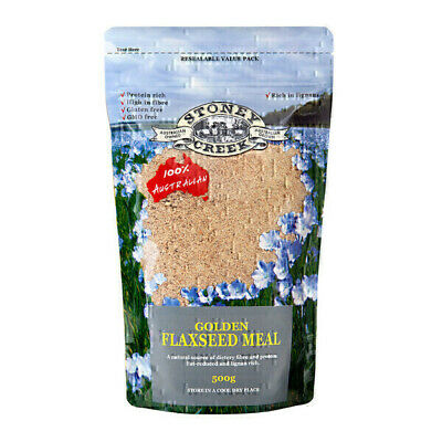 NEW Stoney Creek Flax Flaxseed Meal Golden 500g | Linseed Flax