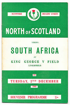 1969 - North of Scotland  v South Africa, Touring Match Programme.