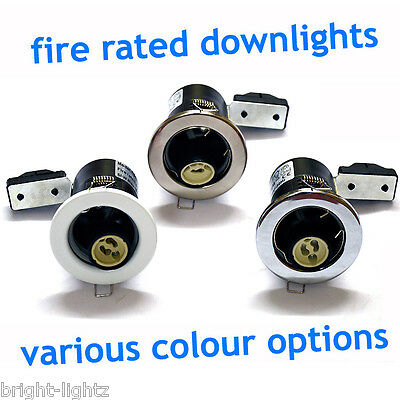 20 x Fire Rated Mains GU10 240V LED Recessed Ceiling Spotlights Downlights UK