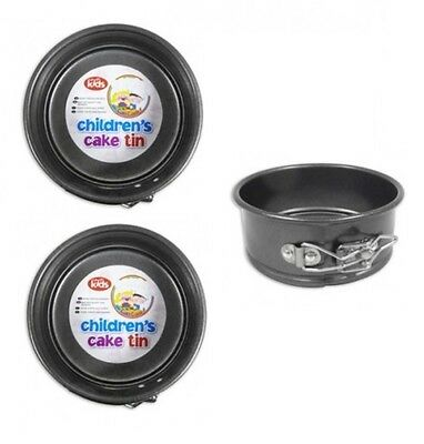 2 x Childrens Mini 12.5cm 5 Inch Non Stick Springform Round Cake Tin Baking Tin