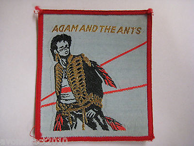 ADAM & THE ANTS - Vintage 1980's Sew On Cloth Patch NEW OLD STOCK