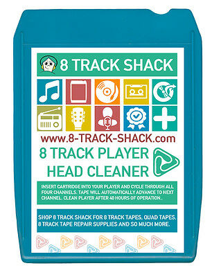 New 8 Track Shack 8 Track Tape Player Head Cleaner Cartridge
