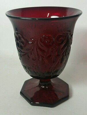 """Mckee """"rock Crystal"""" Red 3 1/2 Oz. Sherbet/egg Cup(S) - Extremely Hard To Find"""