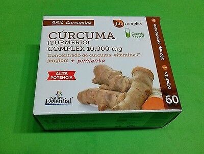 Curcuma Complex 10000 mg  60 capsulas NATURE ESSENTIAL Ayuda Reforzar Defensas