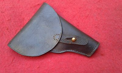WW1 original french leather holster simplified 1892 for 7.65 pistol modified