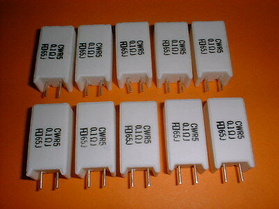 10x 0,1 Ohm 5 Watt Widerstand CWR5 Wirewound-Power