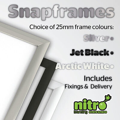 Snap Frames Picture Poster Holders Displays Retail Wall Notice Clip Boards
