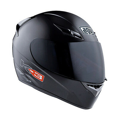 AGV K-3 Full-Face Motorcycle Helmet (Gloss Black) L (Large)