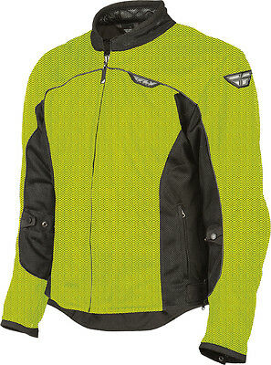FLY RACING Flux Air Mesh Textile Motorcycle Jacket (Hi-Vis Yellow/Black) X-Large