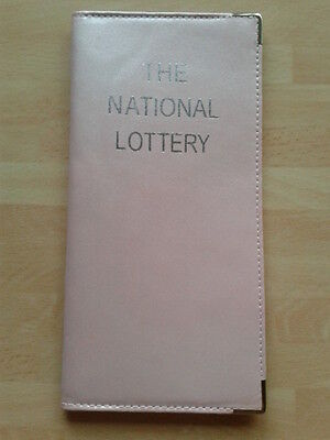 2 x Metallic Pink Leather National Lottery Ticket Case Wallet Holder Sleeve