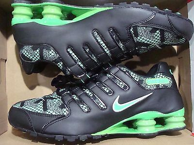 sports shoes 744ef f63f2 MENS NIKE SHOX NZ SE JCRD 807230 300 Green PulseElectro Green-Black Size