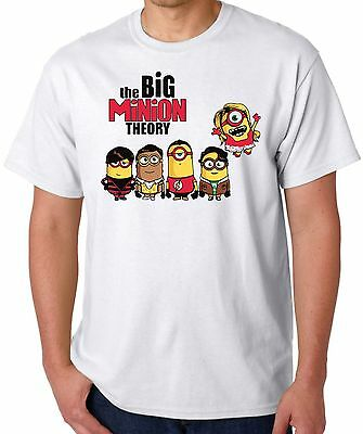 Big minion T Shirt Big Bang Theory festival mens top vest s m l xl xxl