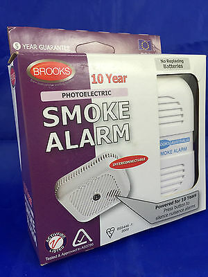 BROOKS PFS3105TYCH PHOTOELECTRIC Smoke Alarm Detector Fire no need for 240V