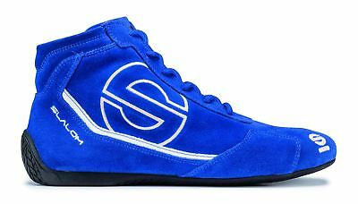 Shoes Sparco Slalom RB-3 FIA BLUE Suede Boots Race Racing Rally Driving NEW 2016