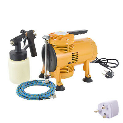 Spray Tan Double Diaphragm Portable Air Spray Gun Compressor KIT AS08K + Hose