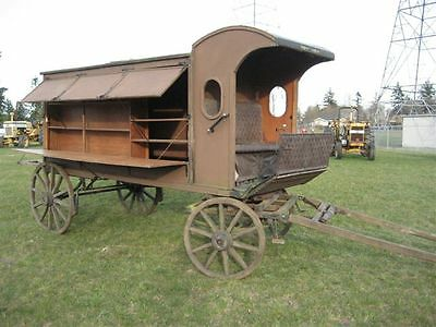 Horse Drawn Library Wagon  CA 1920'S
