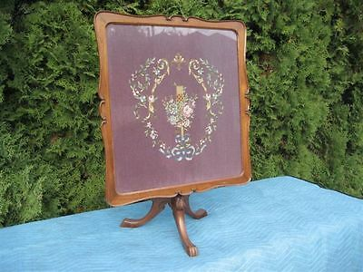 Antique 1890's  Victorian Folding Tapestry Table