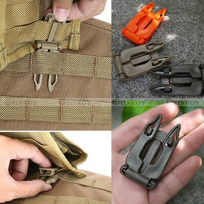 5 Pcs Molle Strap EDC Outdoor Backpack Bag Webbing Connecting Buckle Clip