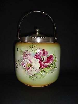 **ANTIQUE ENGLISH BISCUIT BUCKET/CRACKER JAR** 19th C Carlton Ware*
