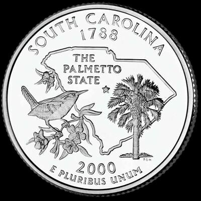 "2000 P South Carolina State Quarter New U.S. Mint ""Brilliant Uncirculated"""