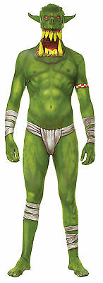 Halloween LifeSize MONSTER MORPH JAW DROPPER GREEN ADULT MEN Large Costume
