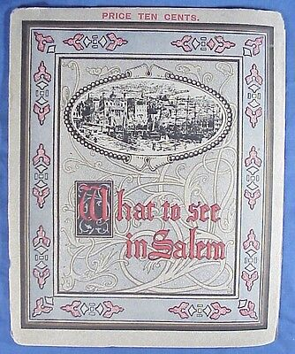What to See in Salem Massachusetts 1906 City Guide Booklet Witchcraft Craze