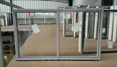 Aluminium Sliding Window 1030mm H x 1450mm W (SILVER)