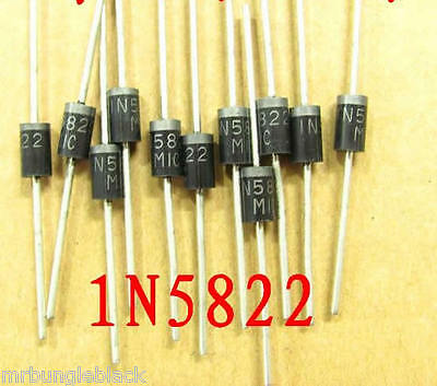15pcs 1N5822 3A 40V Schottky Diode DO-201AD through hole, US Seller